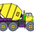 Concrete truck coloring pages online