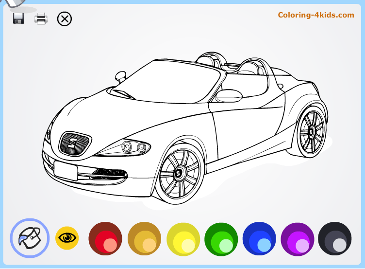 Car Coloring Page Online