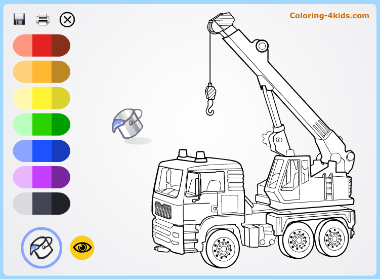 Hoisting crane - coloring pages online for kids