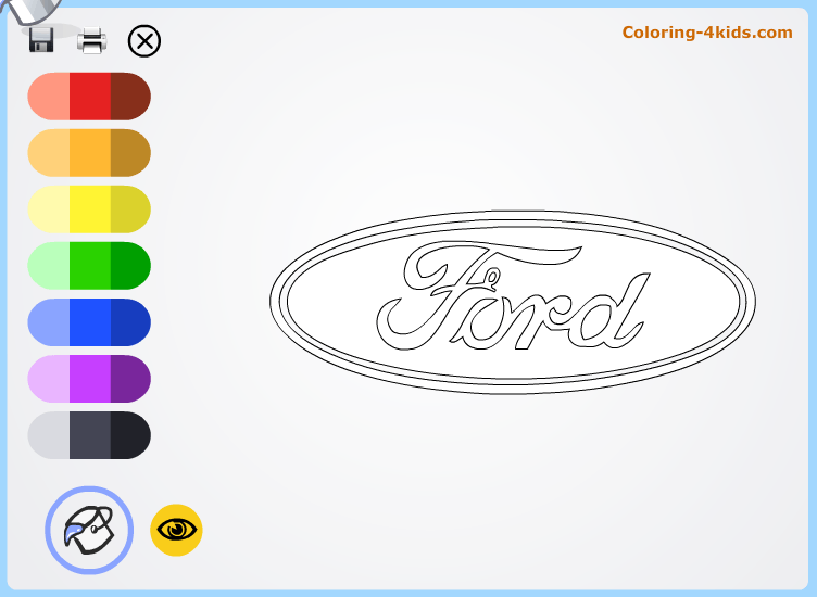 Ford logo coloring pages online