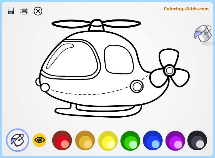 Helicopter - coloring pages online