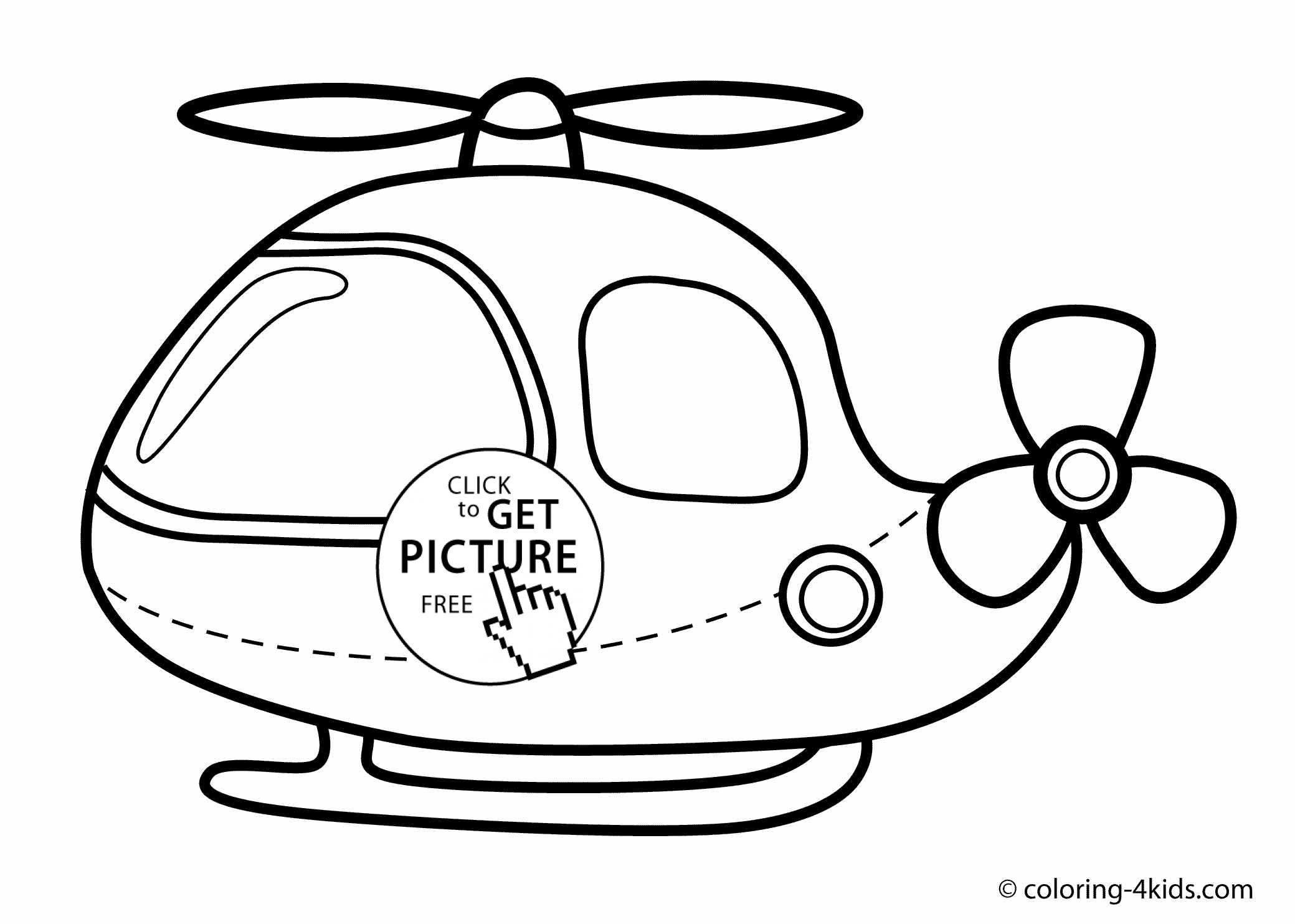 Helicopter coloring page for kids, printable free helicopter coloring books