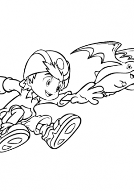Digimons coloring pages for kids free printable 2
