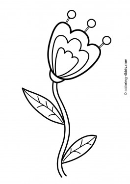 Flowers coloring pages for kids, printable, 5