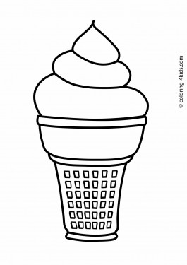 Ice cream coloring pages for kids, printable