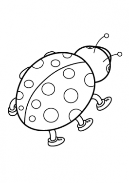 Ladybug coloring pages for kids, printable