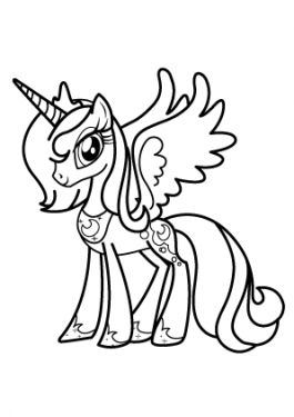 Princesse Luna coloring page for girls, printable