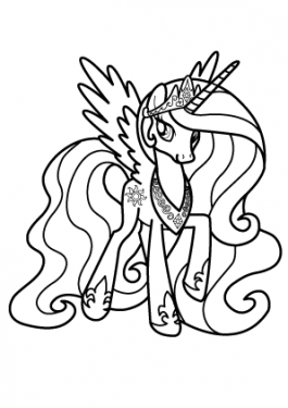 Princesse Celestia coloring page for girls, printable