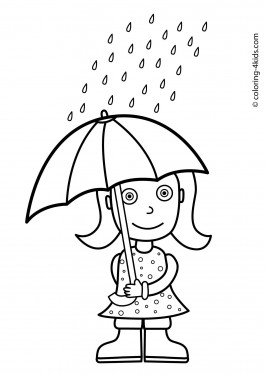 Autumn seasons coloring pages for kids, printable