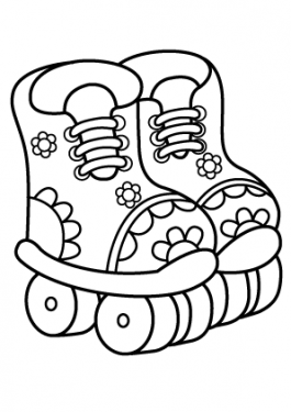 Rollers sport coloring page for kids, printable free