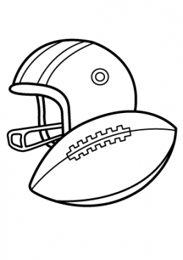 Rugby sport coloring page for kids, printable free