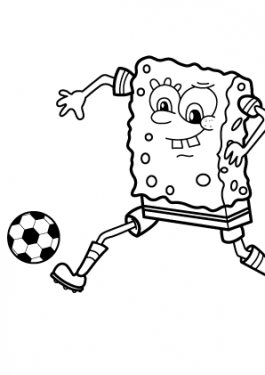 Soccer fotball sport coloring page for kids, printable free