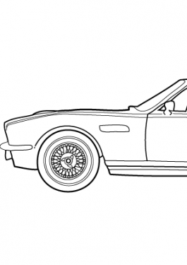 Super car Aston martin DBS coloring page for kids 3, printable free