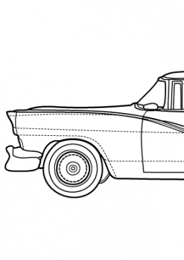 Super car Ford Fairlain coloring page for kids, printable free