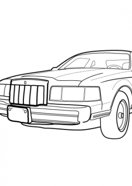 Super car Lincoln Marc VII LSC coloring page for kids, printable free