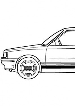 Super car Renault 11 coloring page for kids, printable free