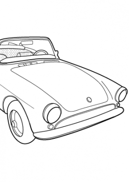 Super car Sunbeam Alpine coloring page for kids, printable free