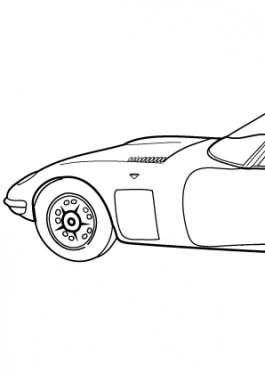 Super car Toyota 2000GT coloring page for kids, printable free