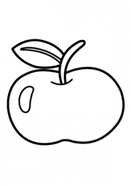 Apple Fruits coloring pages big for kids, printable free