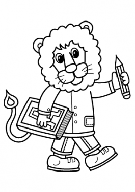 School coloring page, schoolboy coloring page for kids, printable free