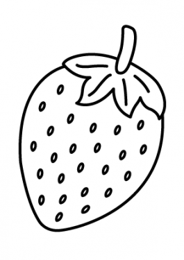 Strawberry Fruits coloring pages simple for kids, printable free
